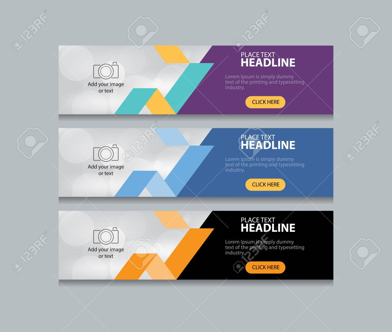 abstract web banner design template background - 60917044