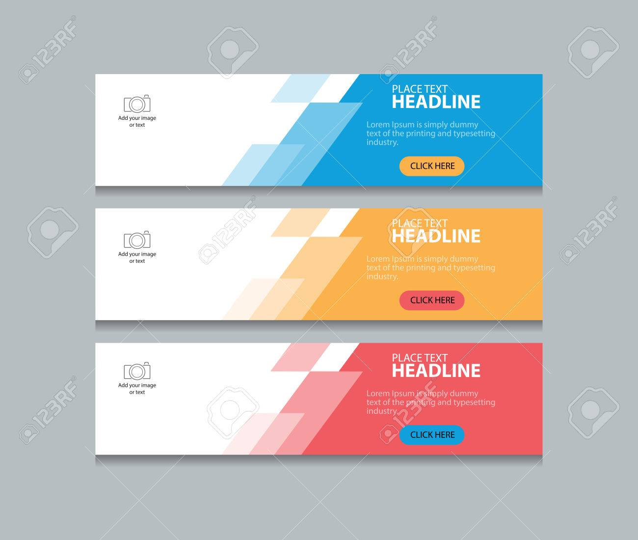 Connu Abstrait Bannière Web Design Template Fond Clip Art Libres De  PK61