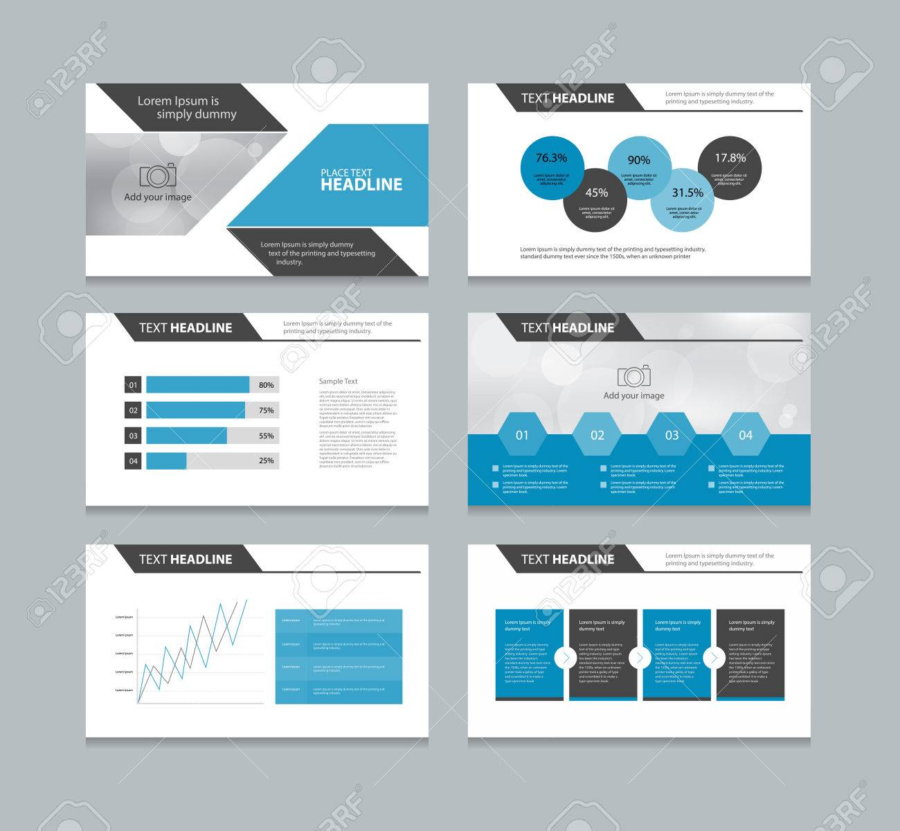 Abstract Page Presentation Template With Info Graphic Elements ...