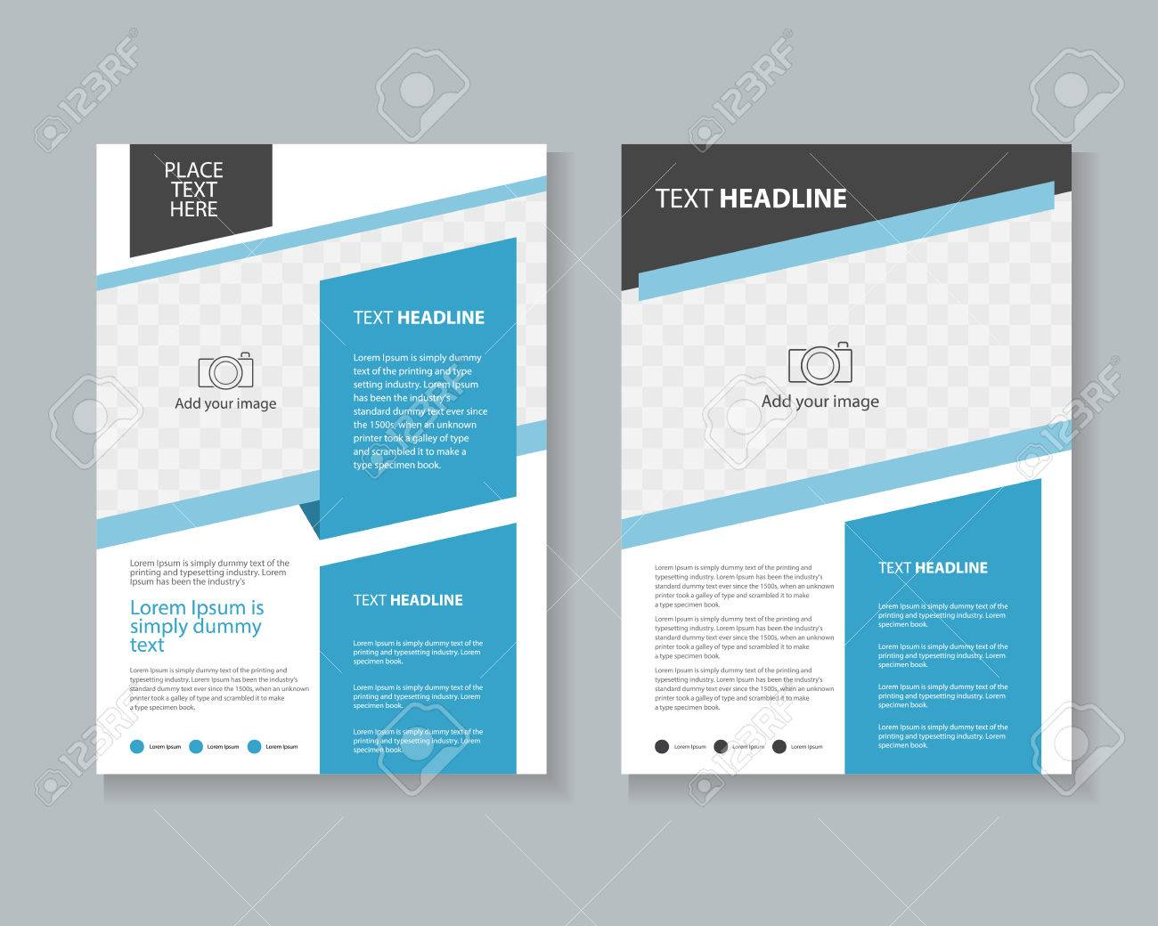 page brochure leaflet layout design template royalty free cliparts