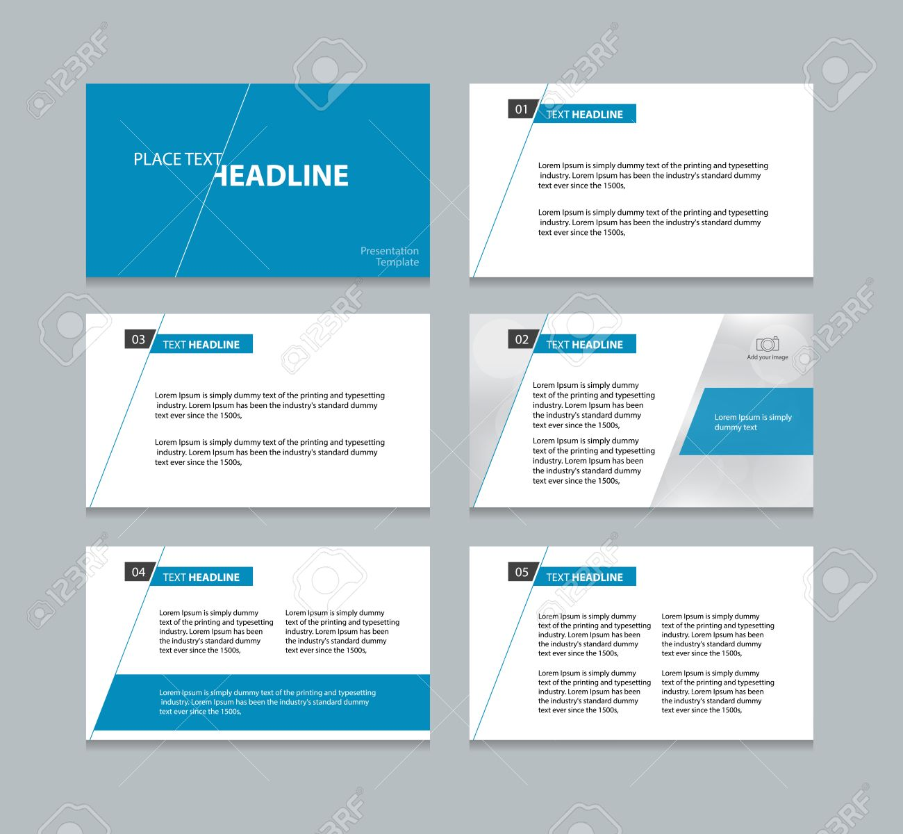 page presentation layout design template royalty free cliparts