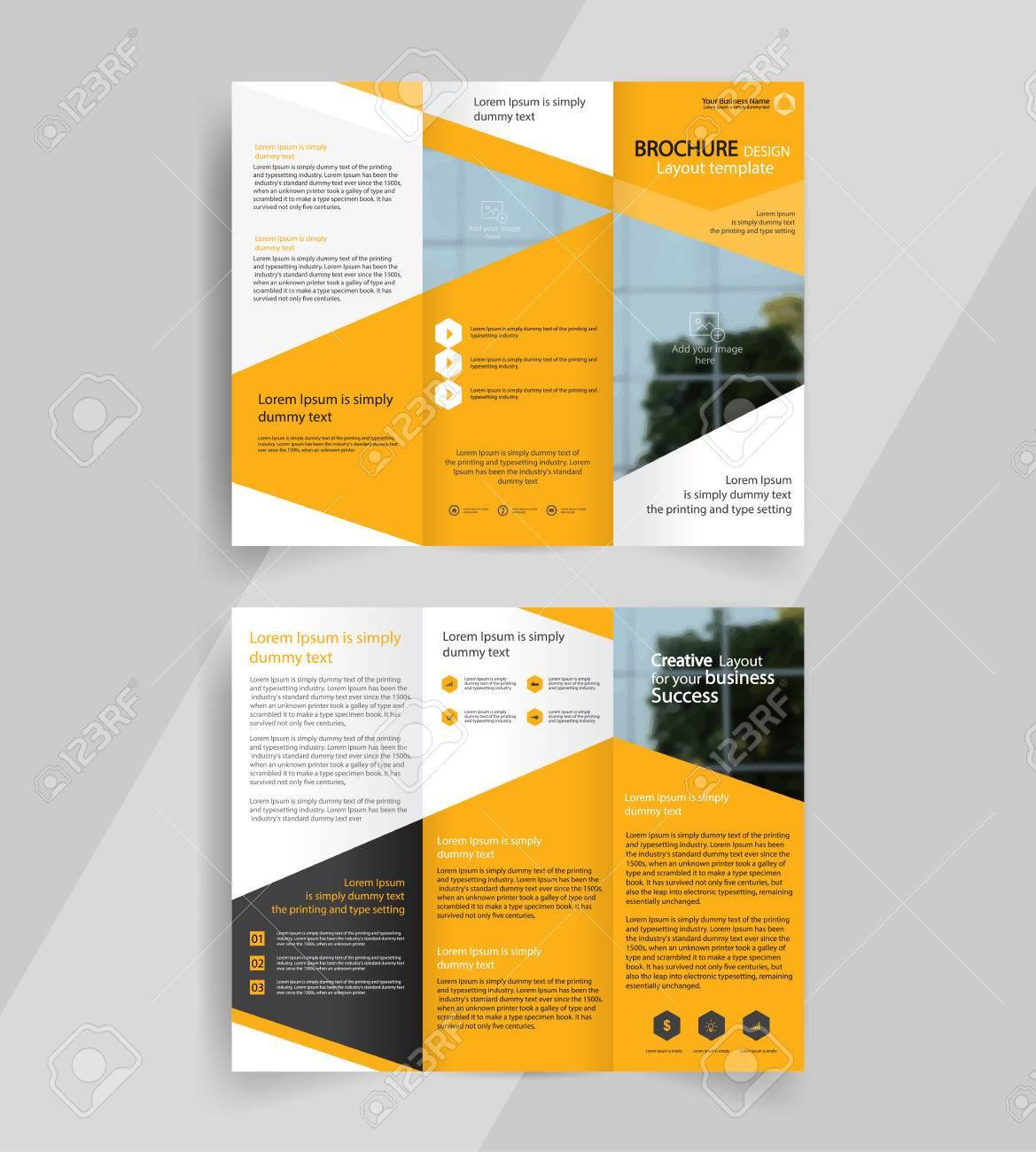 in design tri fold brochure template