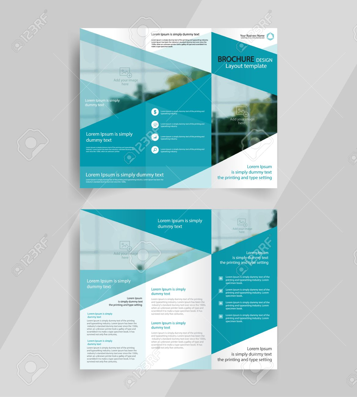 Trifold Template | Business Tri Fold Brochure Layout Design Vector A4 Brochure