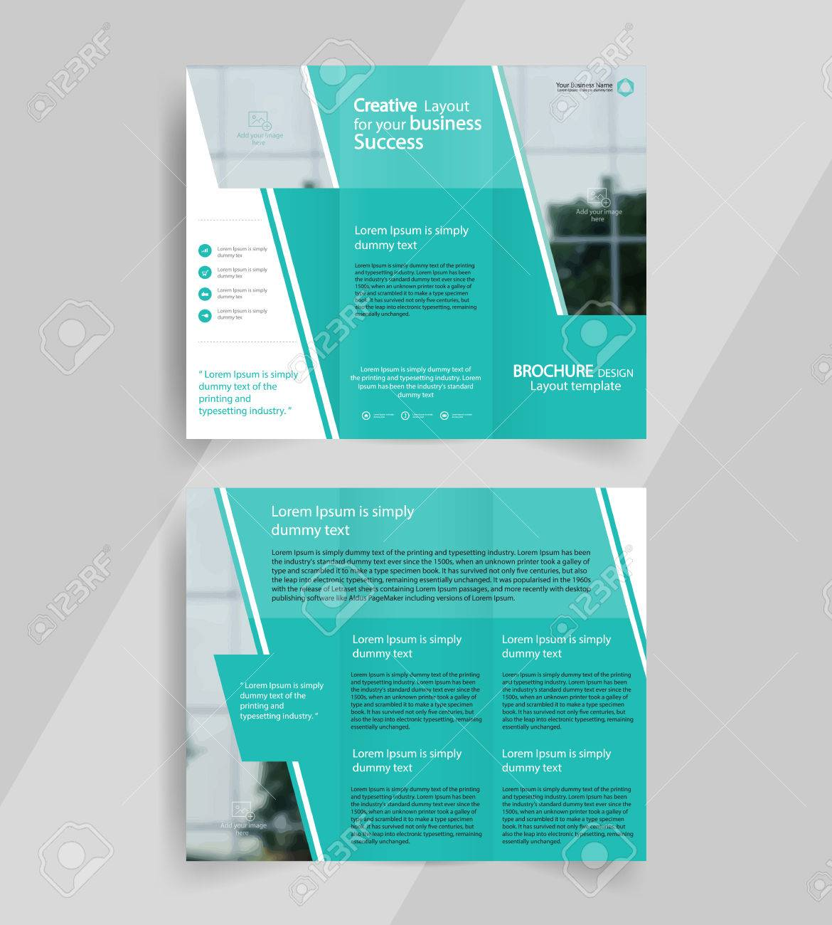 business tri fold brochure layout design vector a4 brochure