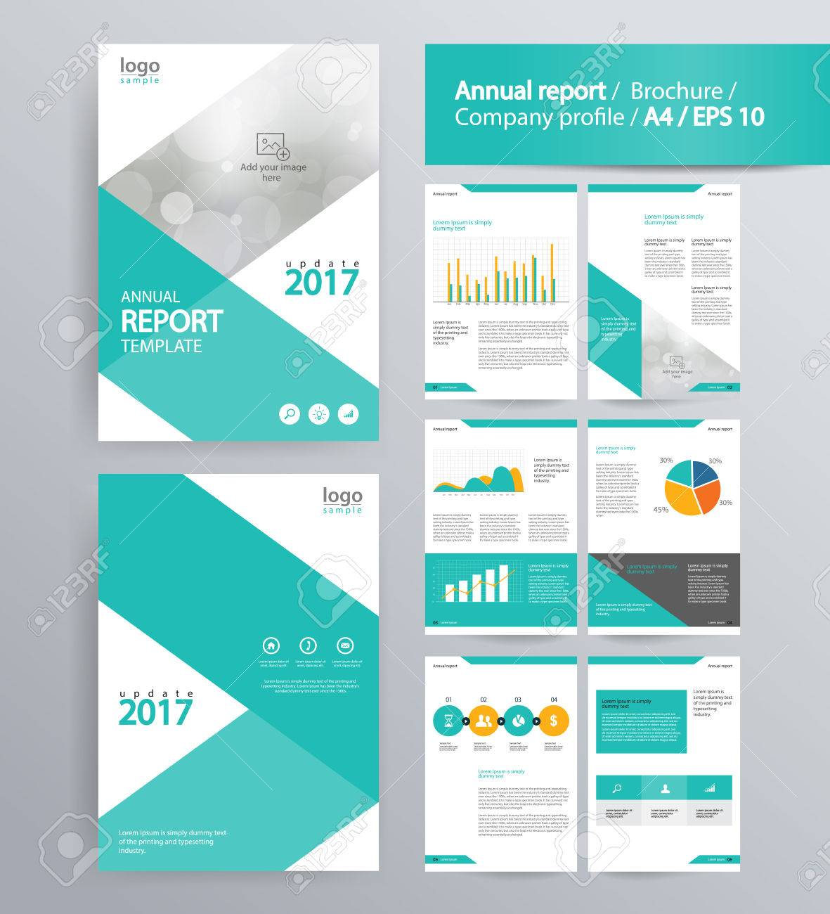Page Layout For Company Profile, Annual Report, Brochure, And ...