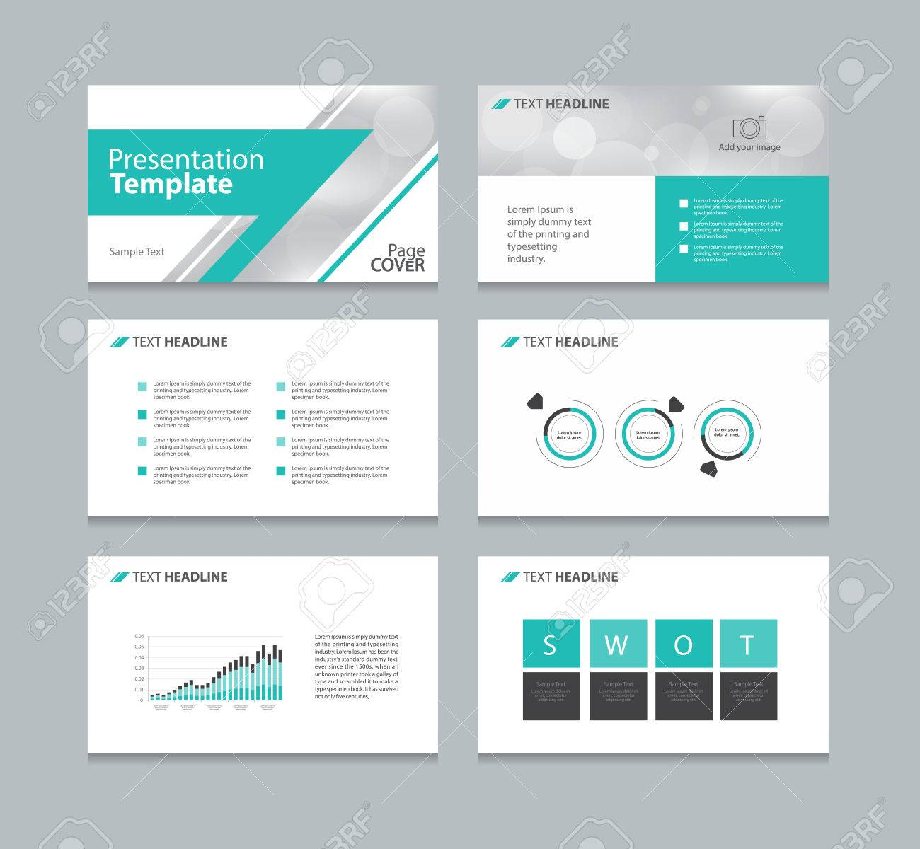 page layout design for presentation and brochure and book template