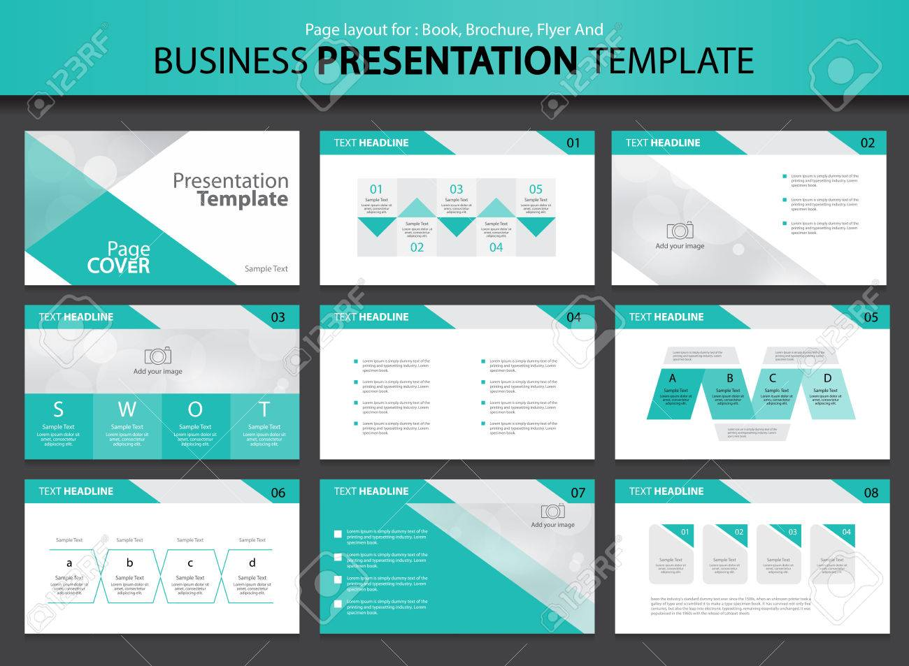Page Layout Design For Presentation And Brochure And Book Template ...