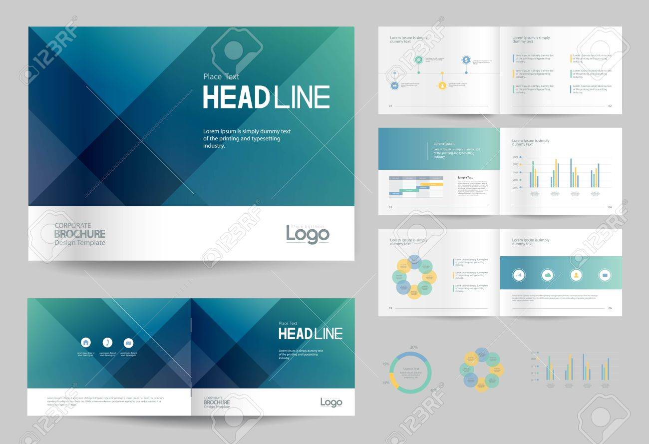 Business Brochure Design Template And Page Layout For Company Royalty Free Cliparts Vectors And Stock Illustration Image 79649613