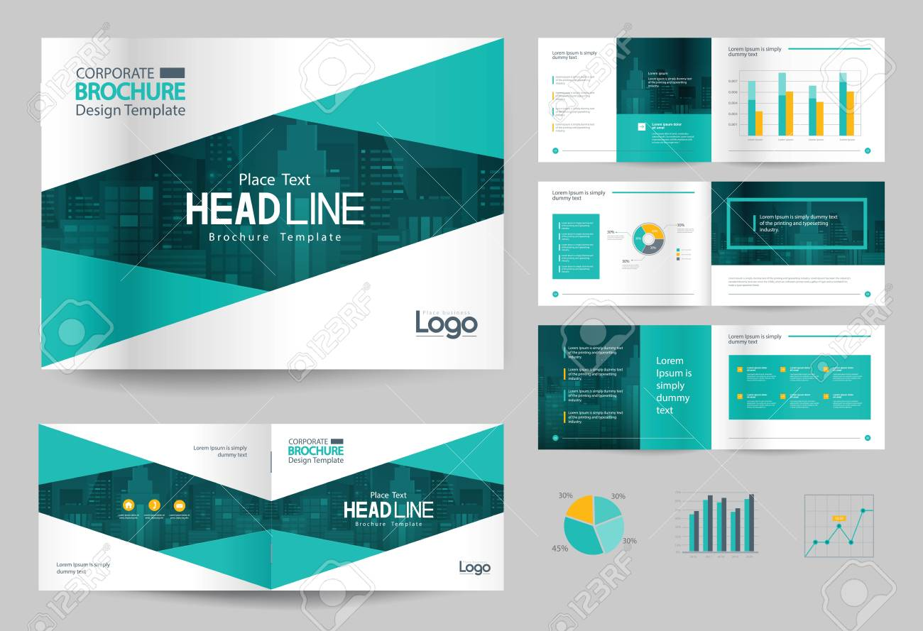 Business brochure design template and page layout for company business brochure design template and page layout for company profile annual reportwith page wajeb Images