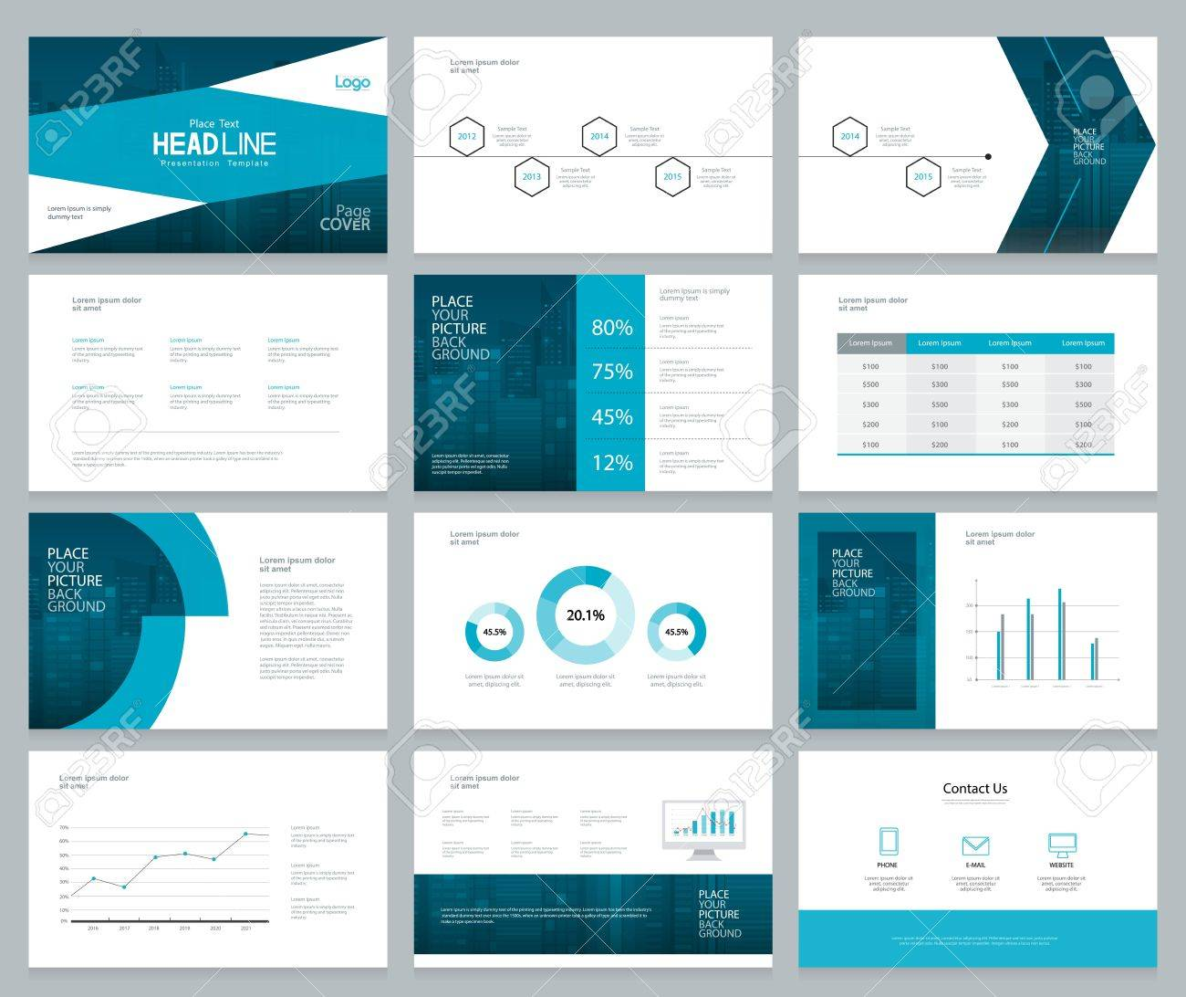 Business Presentation Design Template And Page Layout With Cover - Presentation cover page template
