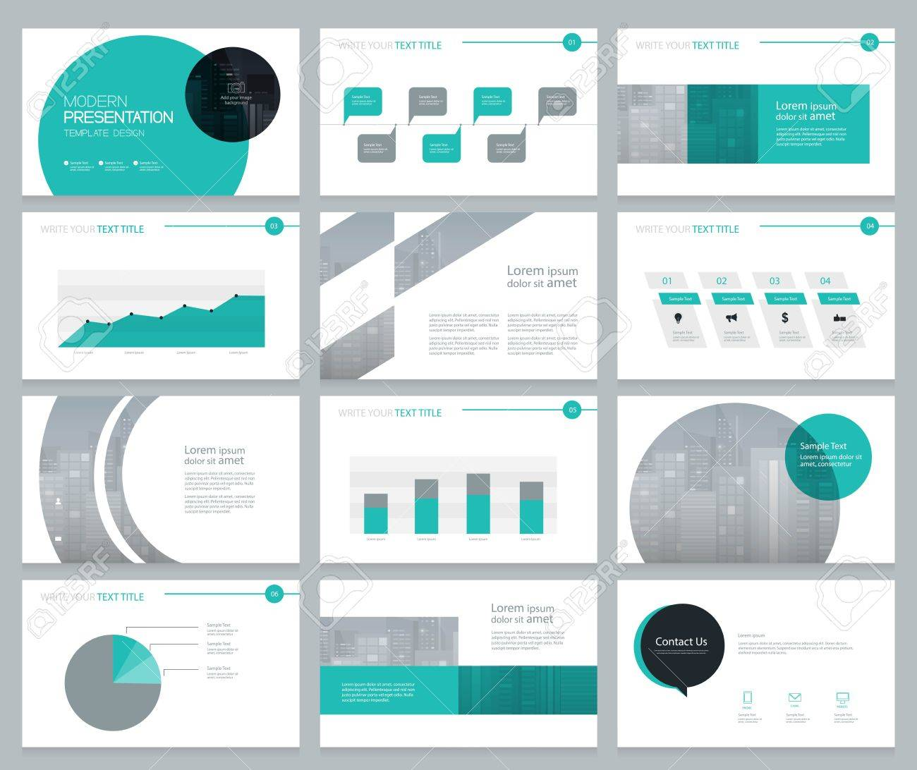 page layout design for business presentation and brochure report