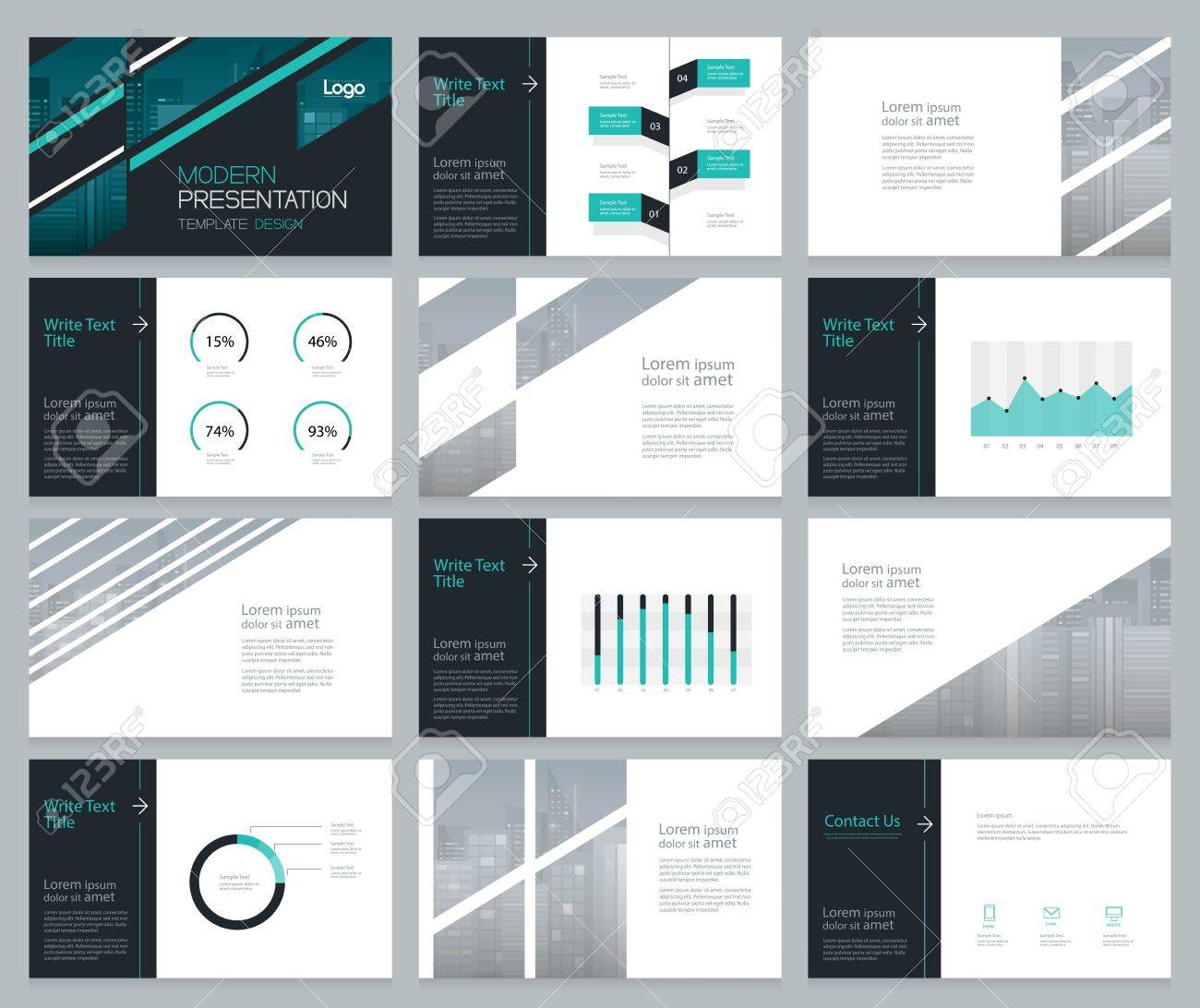 page layout design for business presentation and brochure ,report,book