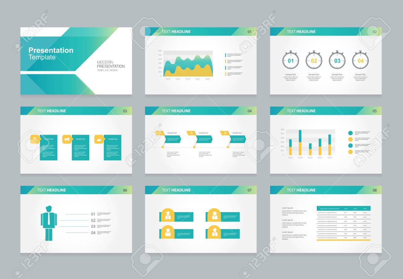 abstract presentation slide template design background with
