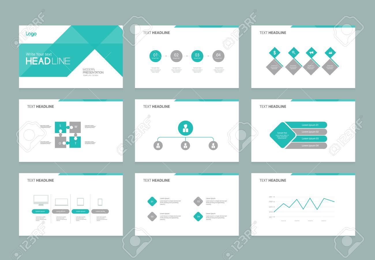Presentation slide templates easy editable vector image.