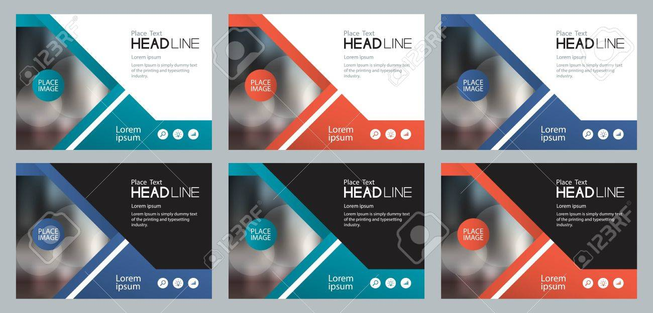 Template set design for social media and web banners background for presentation, brochure, book cover layout, and flyers - 81725898