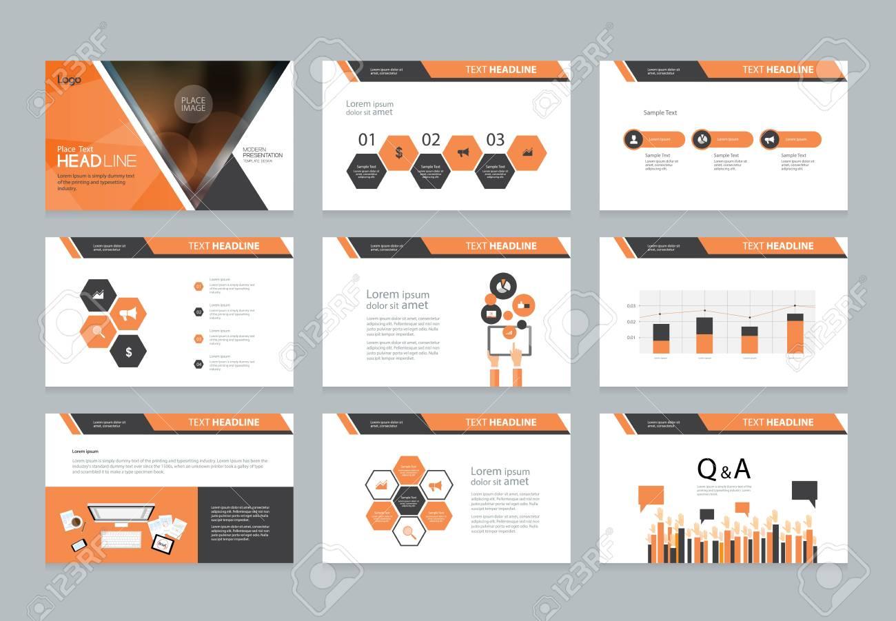 Business-Präsentation Template-Design Und Seitenlayout-Design Für ...