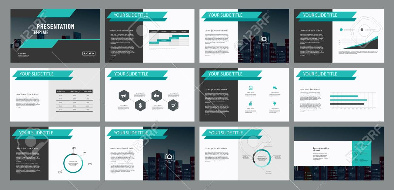 business presentation template design and page layout design