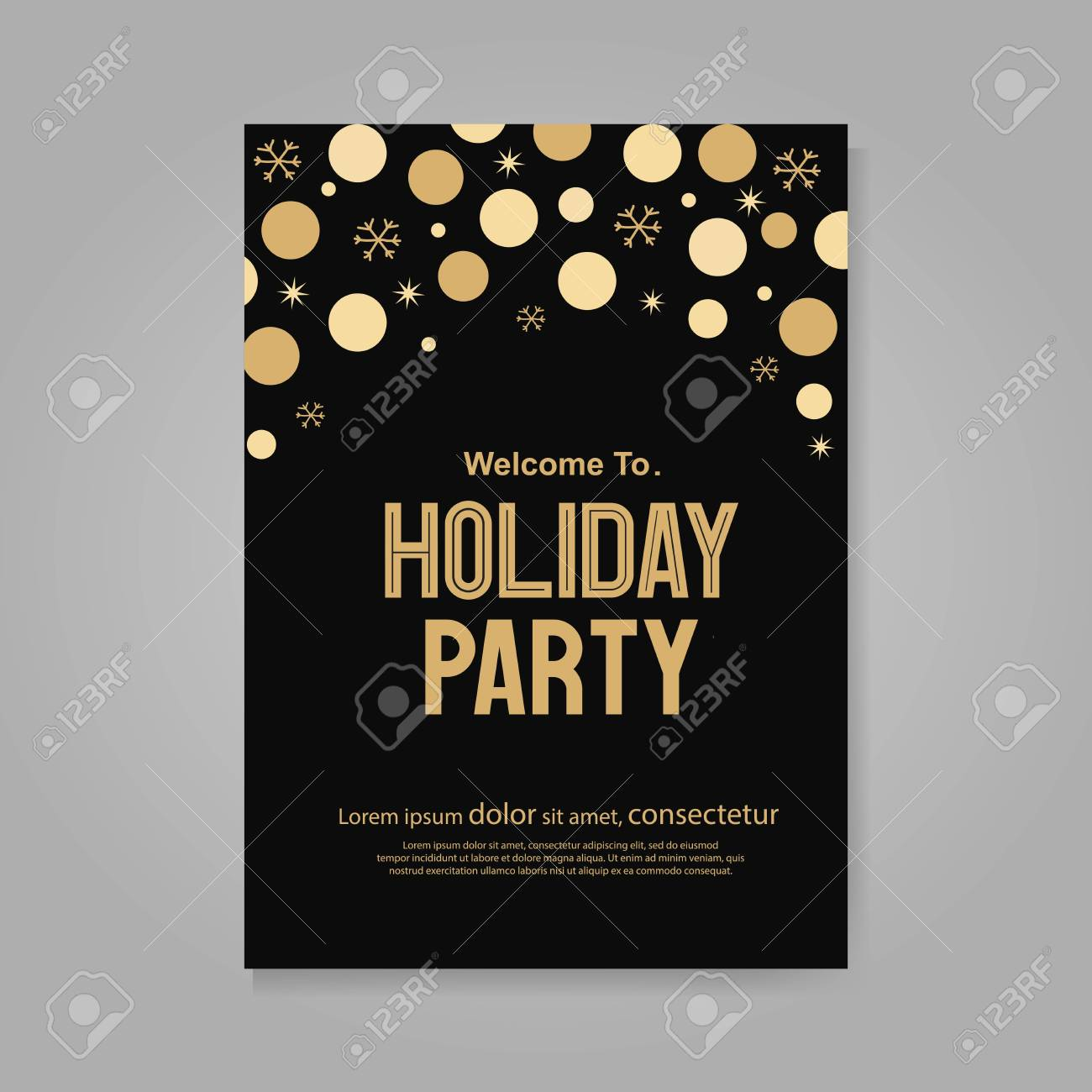 vector vector illustration design for holiday party and happy new year party invitation flyer and greeting card template