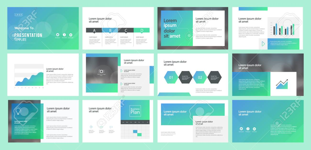 Abstract Business Presentation Template Design And Page Layout - Unique company profile presentation template ideas