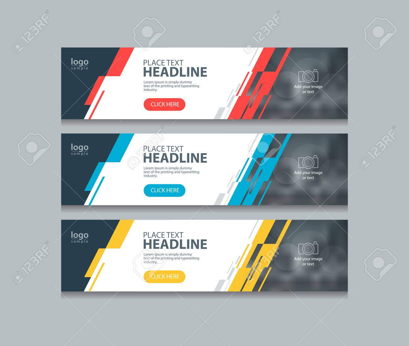 Abstract Horizontal Web Banner Design Template Backgrounds Royalty Free Cliparts Vectors And Stock Illustration Image 106955269