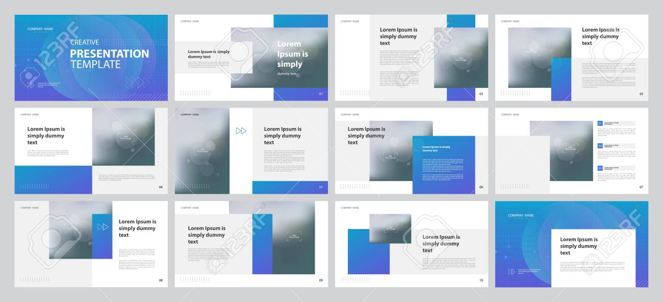 Business Presentation Design Template With Page Layout Design Royalty Free Cliparts Vectors And Stock Illustration Image 116841683
