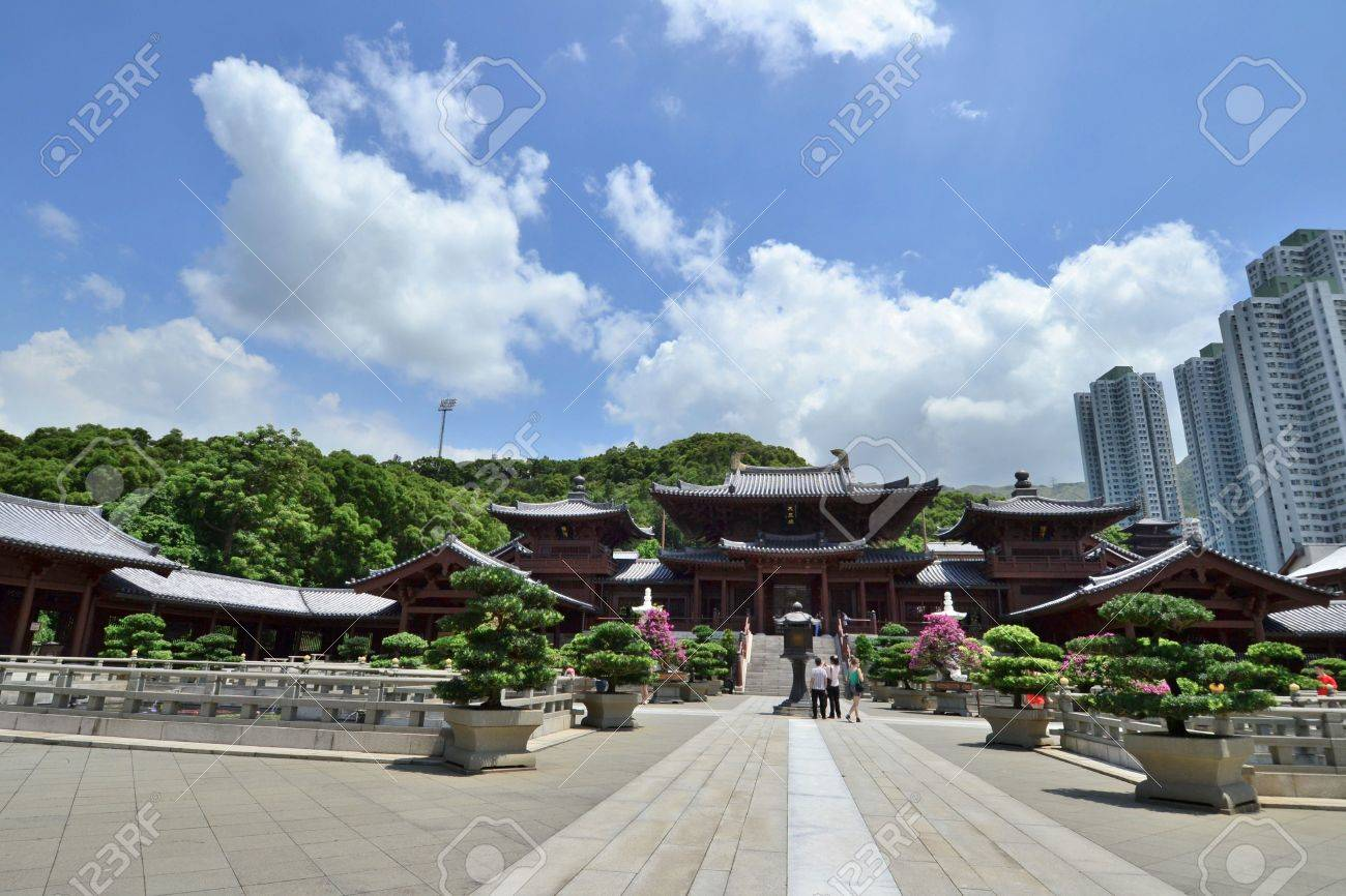 Chi Lin Nunnery is a large Buddhist temple complex located in Diamond Hill , Kowloon,Hong Kong. Stock Photo - 15986761