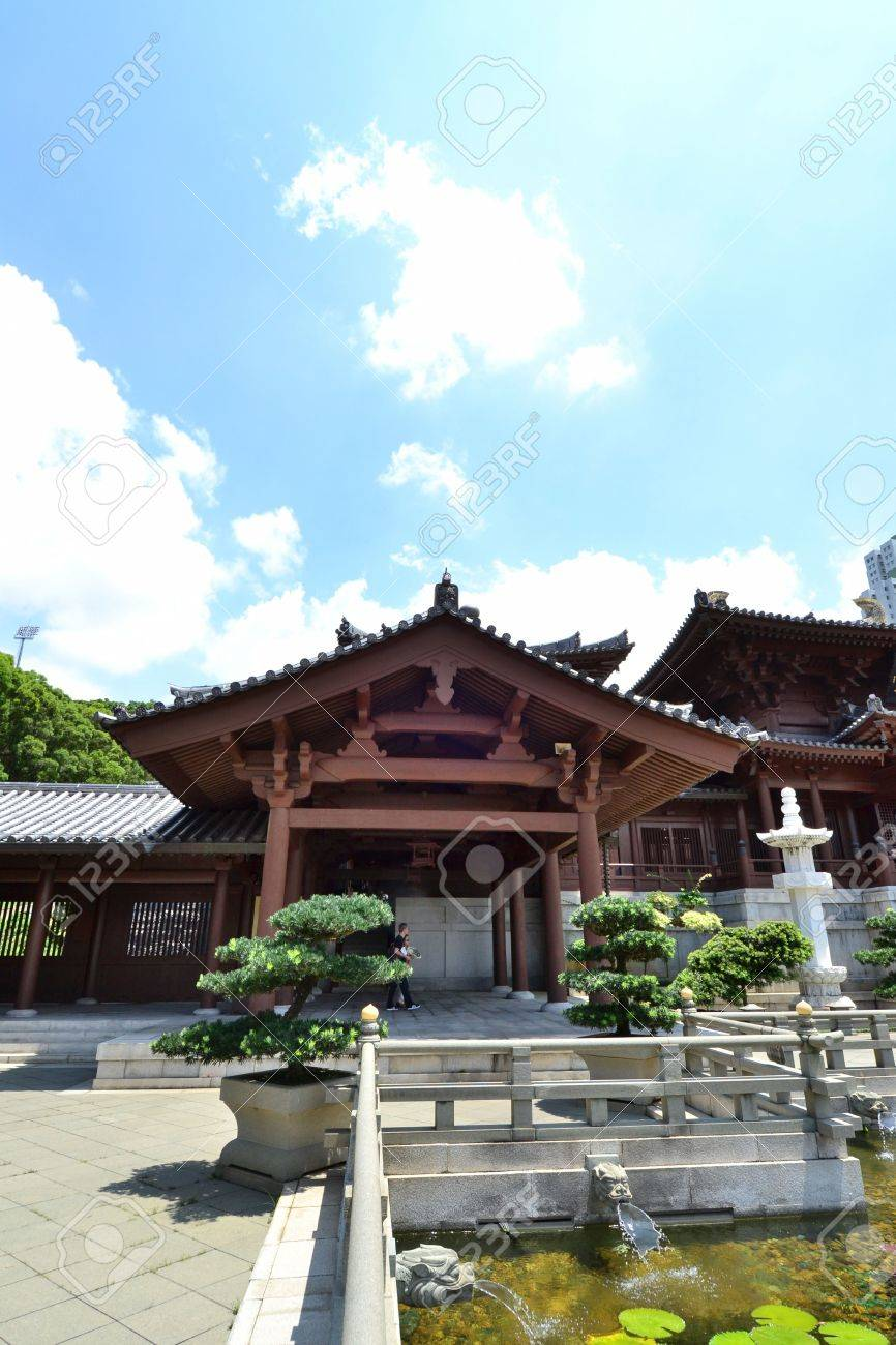 Chi Lin Nunnery is a large Buddhist temple complex located in Diamond Hill , Kowloon,Hong Kong. Stock Photo - 15986658