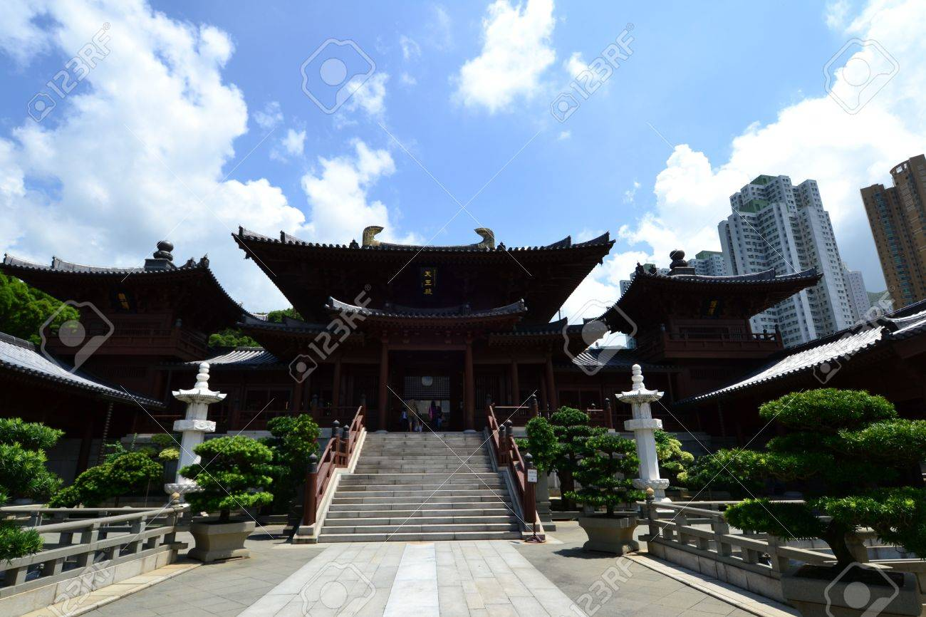 Chi Lin Nunnery is a large Buddhist temple complex located in Diamond Hill , Kowloon,Hong Kong. Stock Photo - 16002526