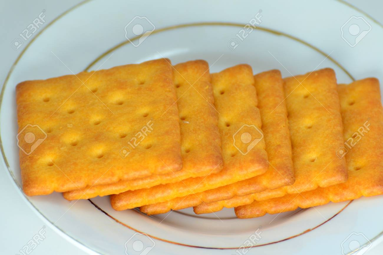 Close up crackers isolated on white background. Stock Photo - 18647813
