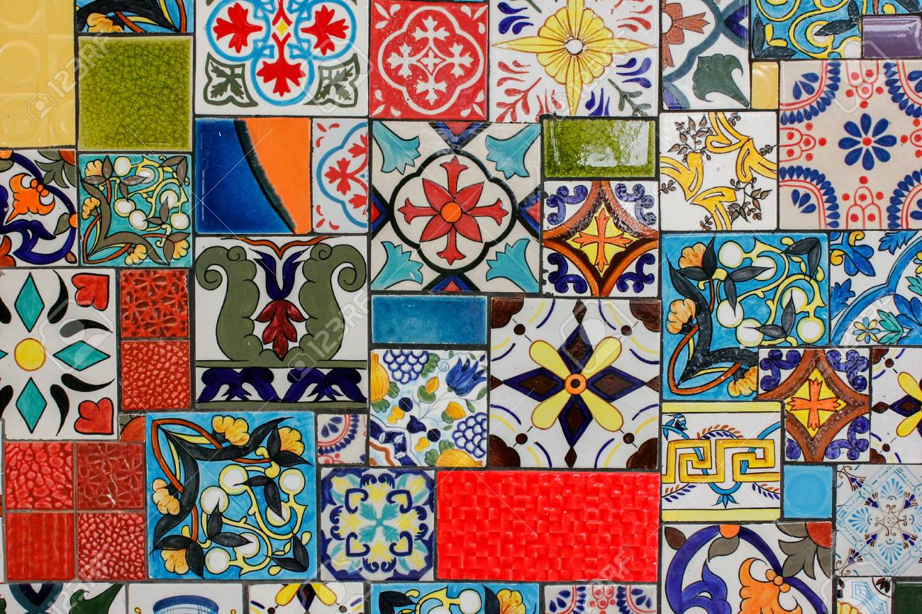 Ceramic Artwork On The Wall Stock Photo Picture And Royalty Free Image Image 110883723