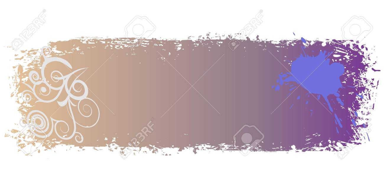 grungy colored banner with swirls and blots illustration Stock Vector - 13264663