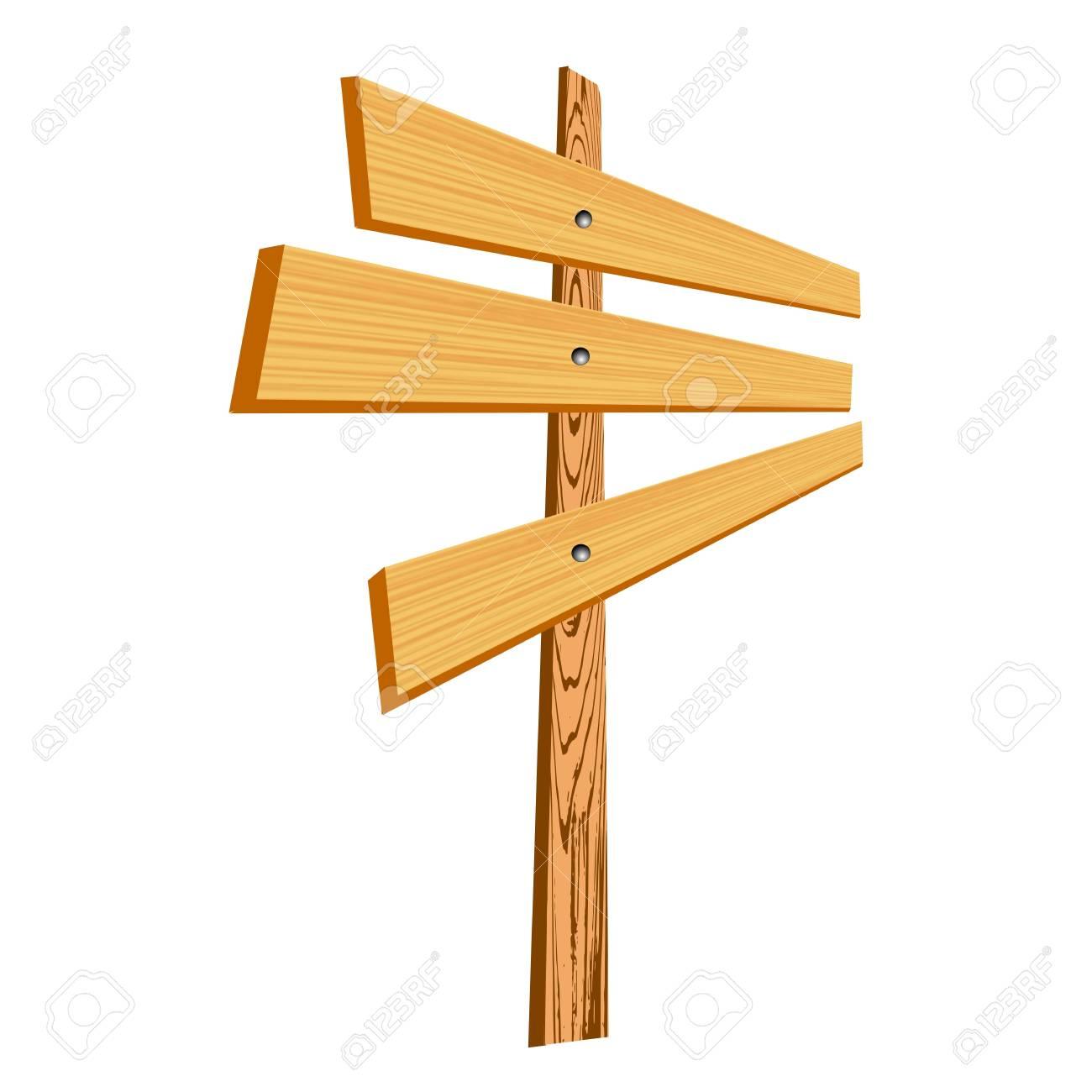 blank wooden sign - vector Stock Vector - 13285685