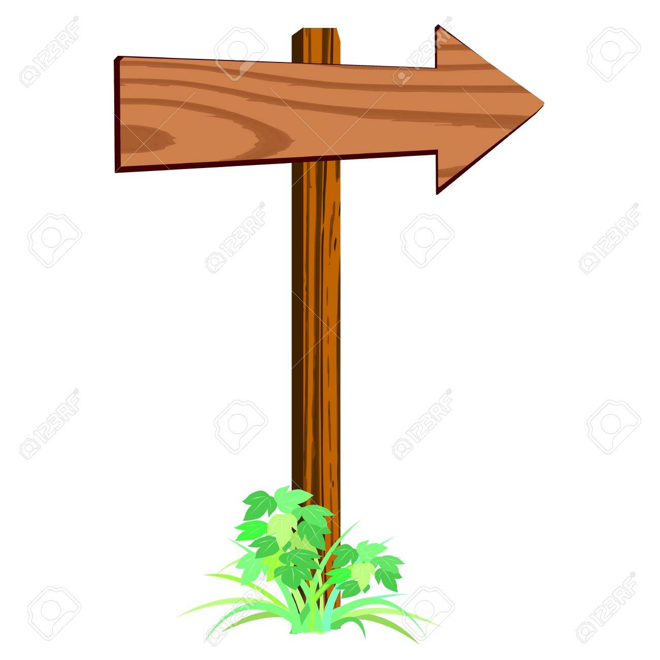 Wood Arrow Sign Clipart | Info