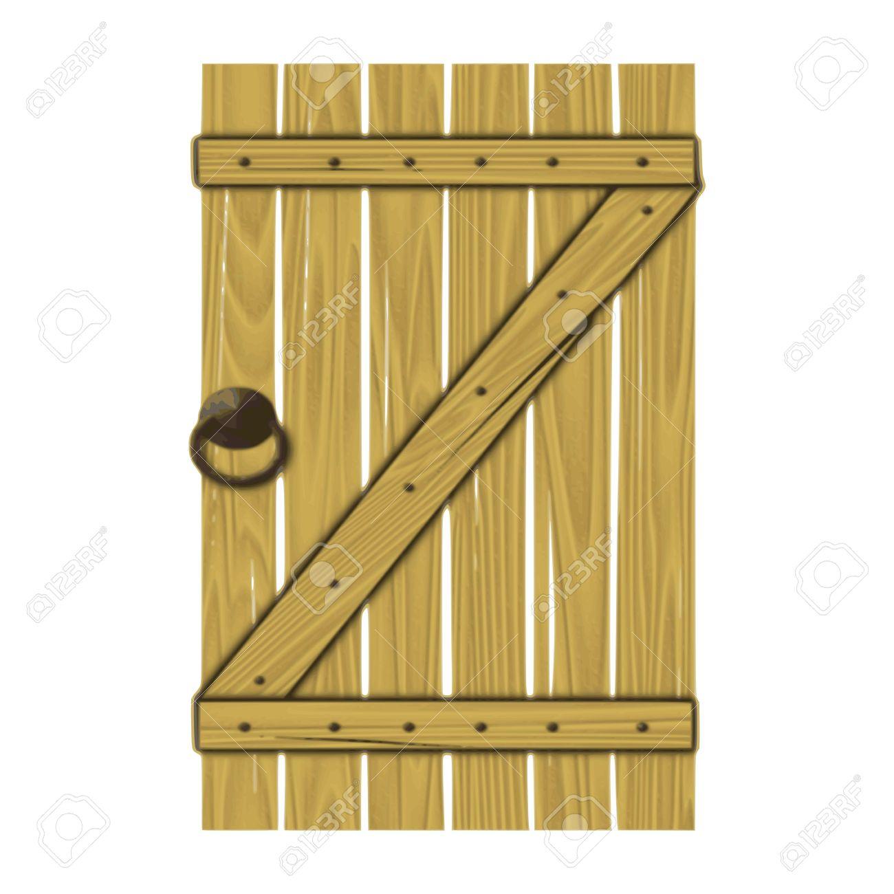 wooden gate - vector Stock Vector - 13427398