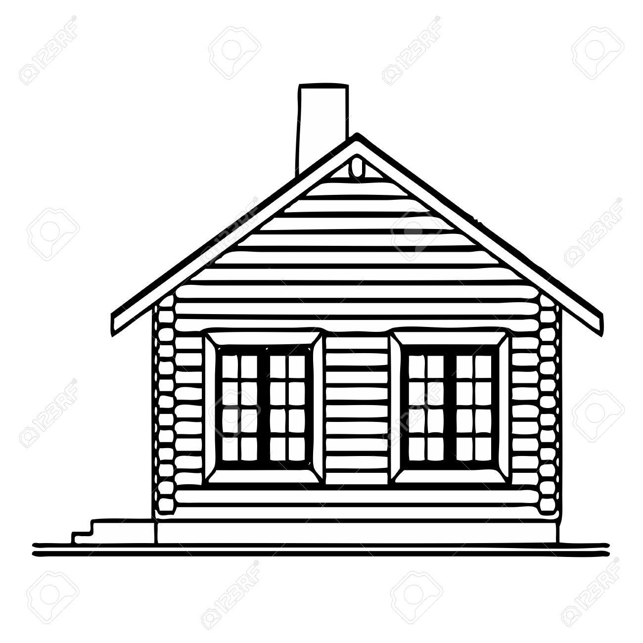 Wooden House Royalty Free Cliparts, Vectors, And Stock Illustration ...