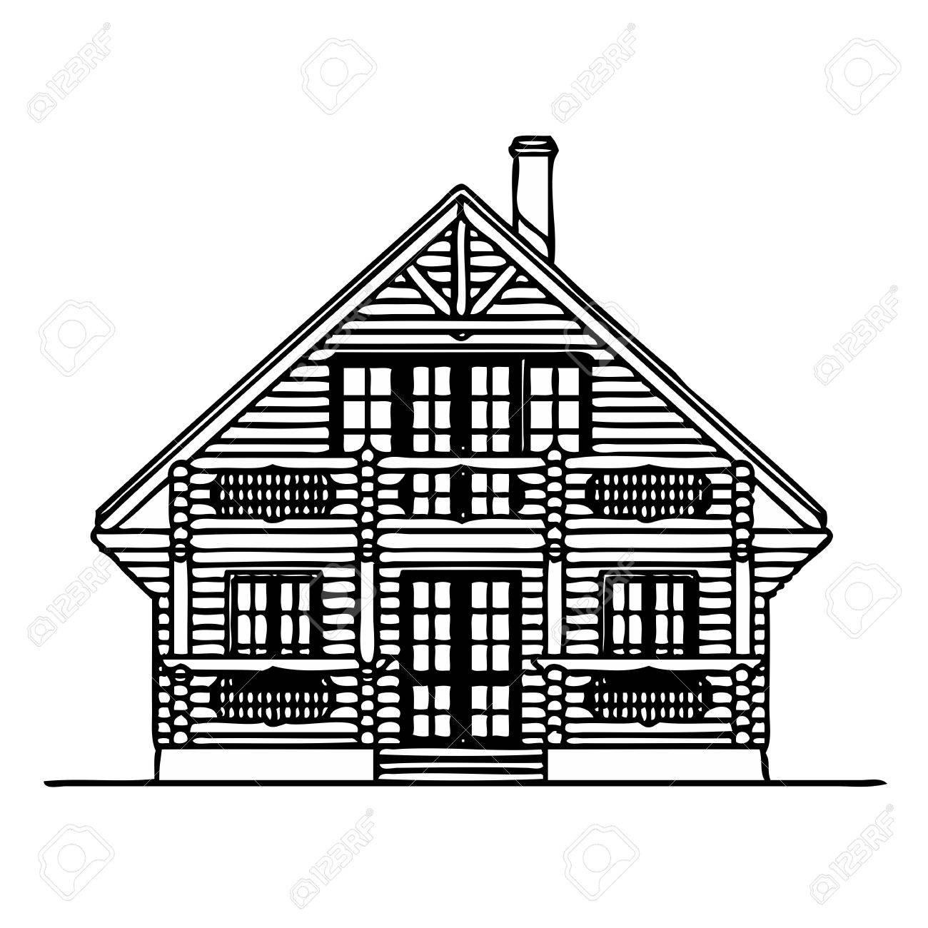 Wooden house Stock Vector - 13767453
