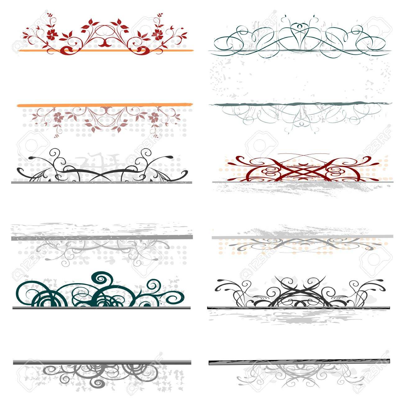 swirl floral borders for your text Stock Vector - 13768778