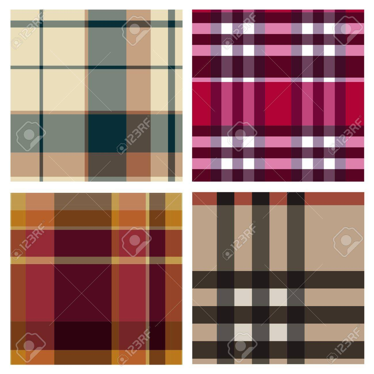 Tartan plaid fabric textile patterns Stock Vector - 13768743