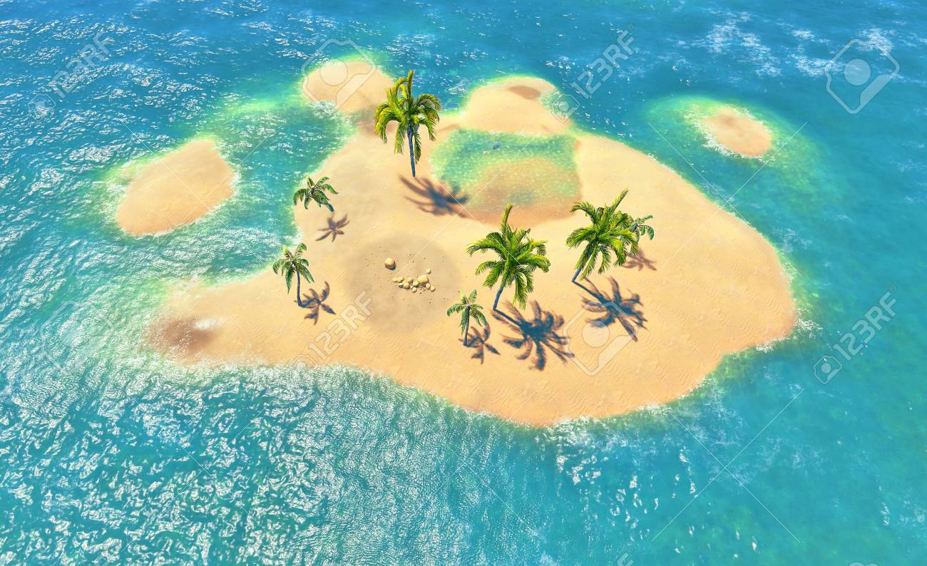islands and palms Stock Photo - 14324738