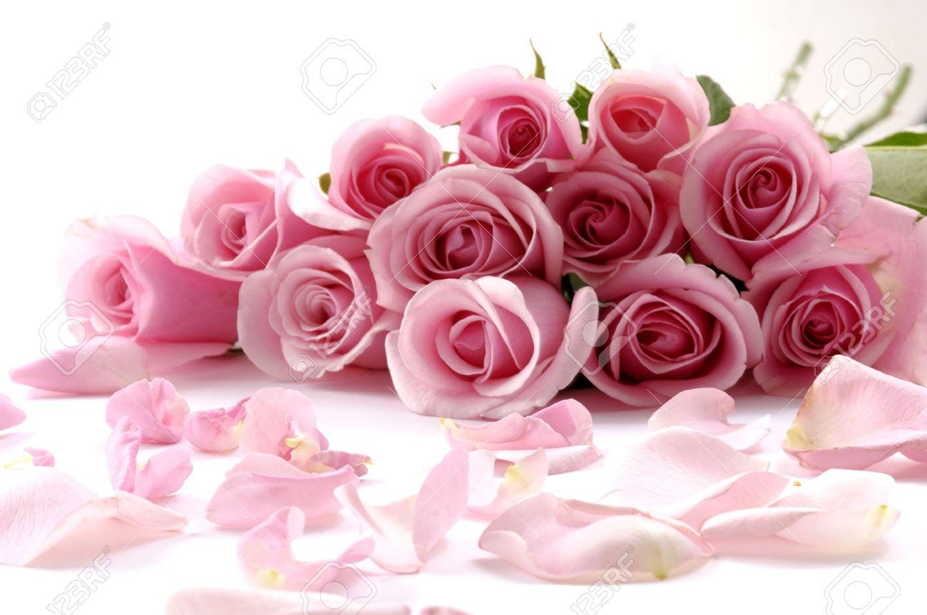 bouquet de fleurs magnifiques avec pétales banque d'images et