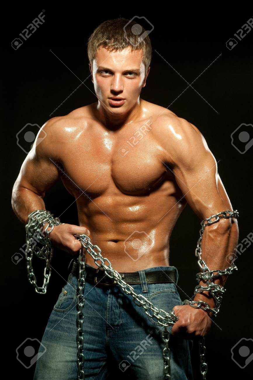 Young sports guy with a naked torso Stock Photo - 7247356