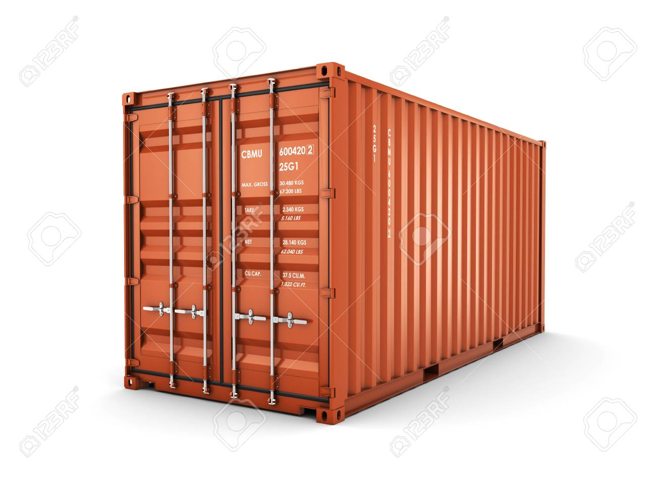 Isolated cargo container on the white background - 50490938
