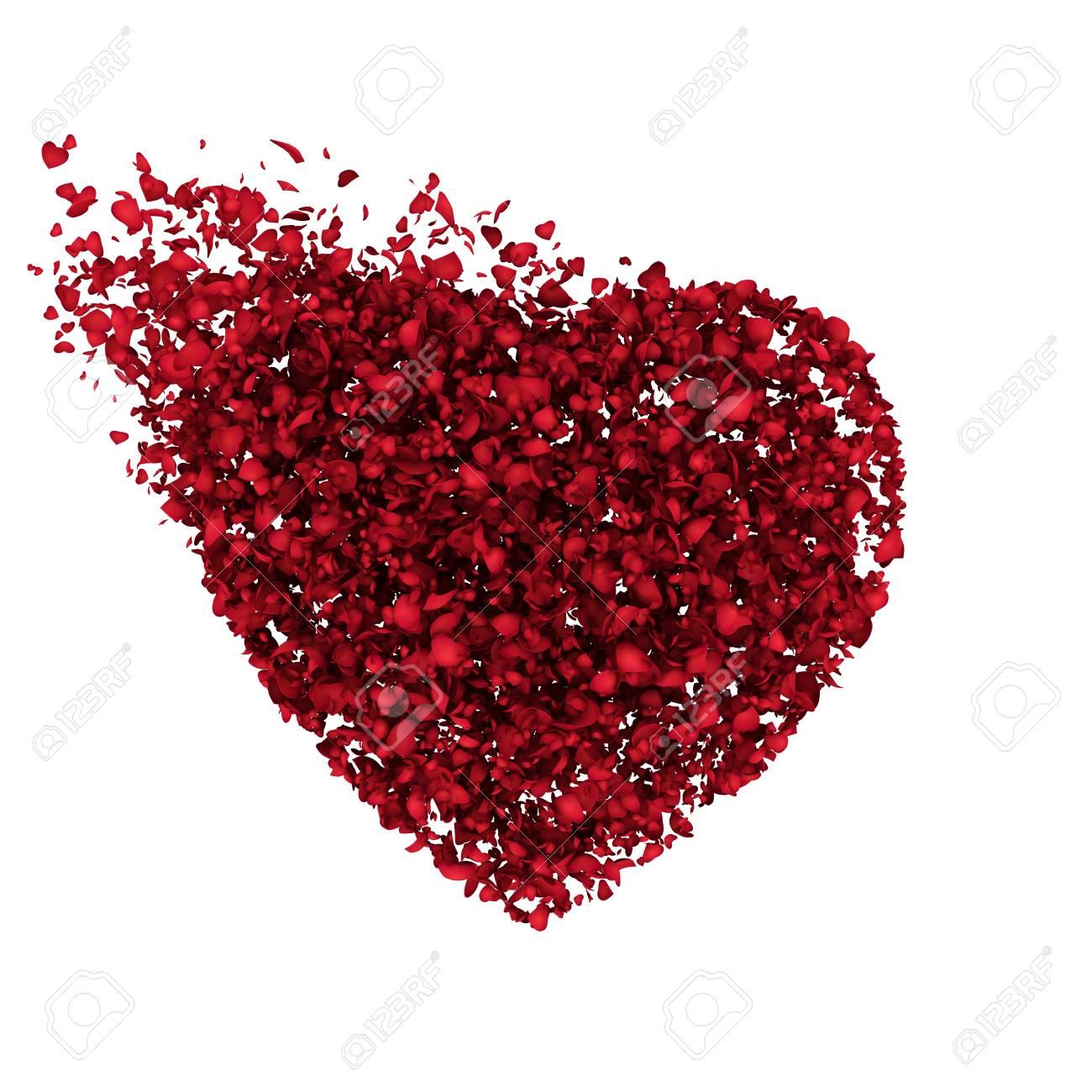 Grandes Corazones Rojos Del Corazón De Las Mitades Fotos Retratos