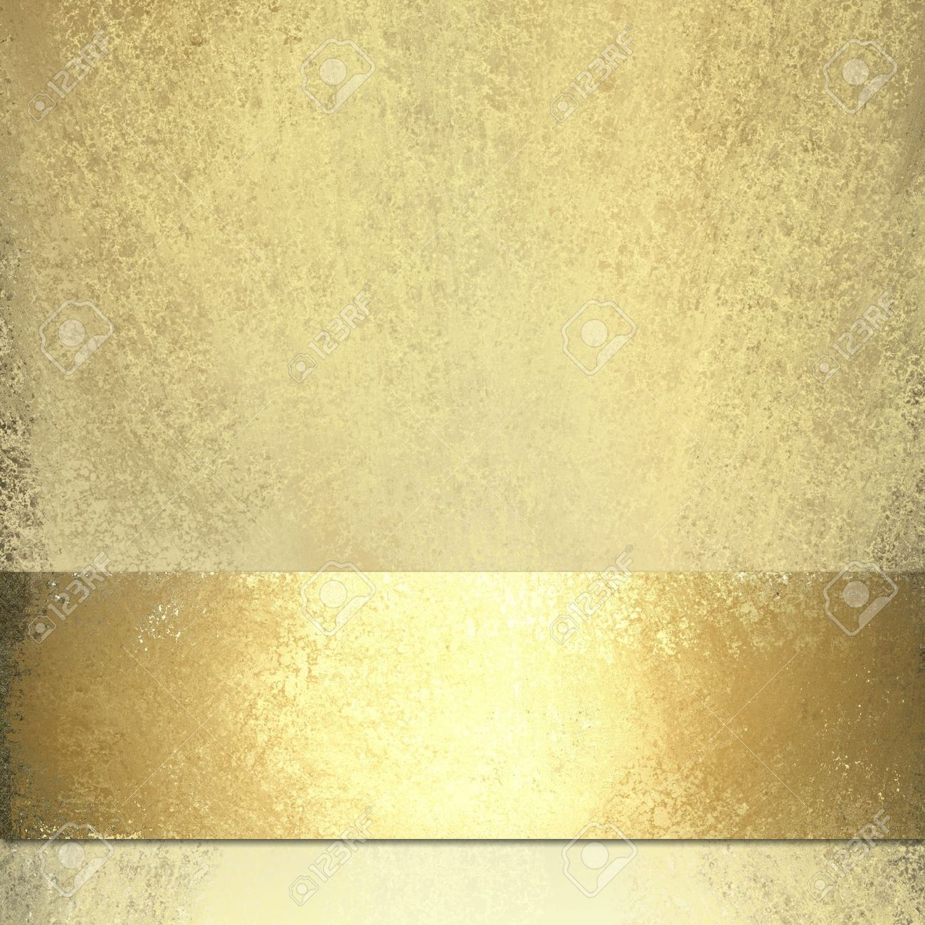 pale gold background with shiny gold ribbon Stock Photo - 10538199
