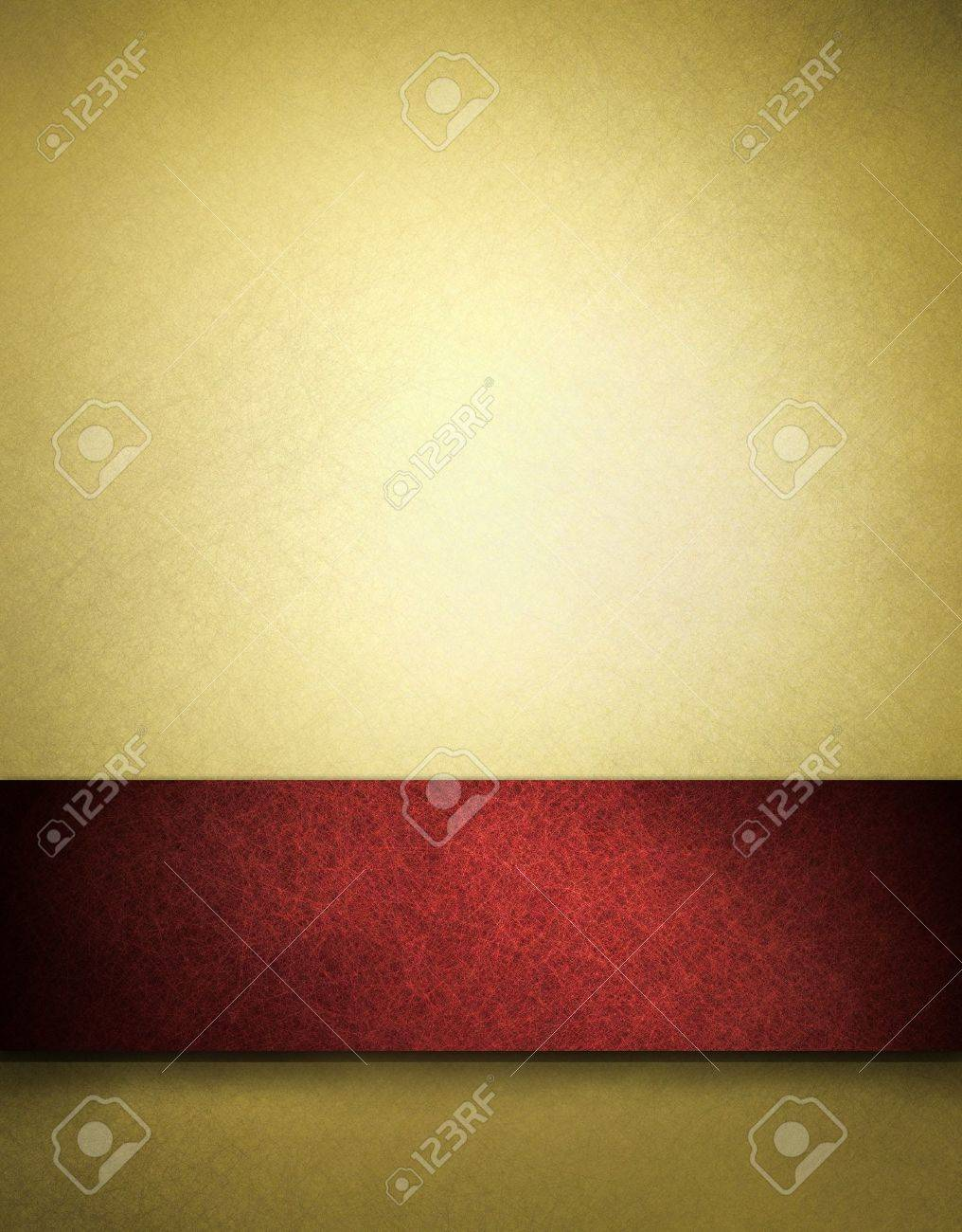 Gold background with red ribbon and copy space Stock Photo - 10566696