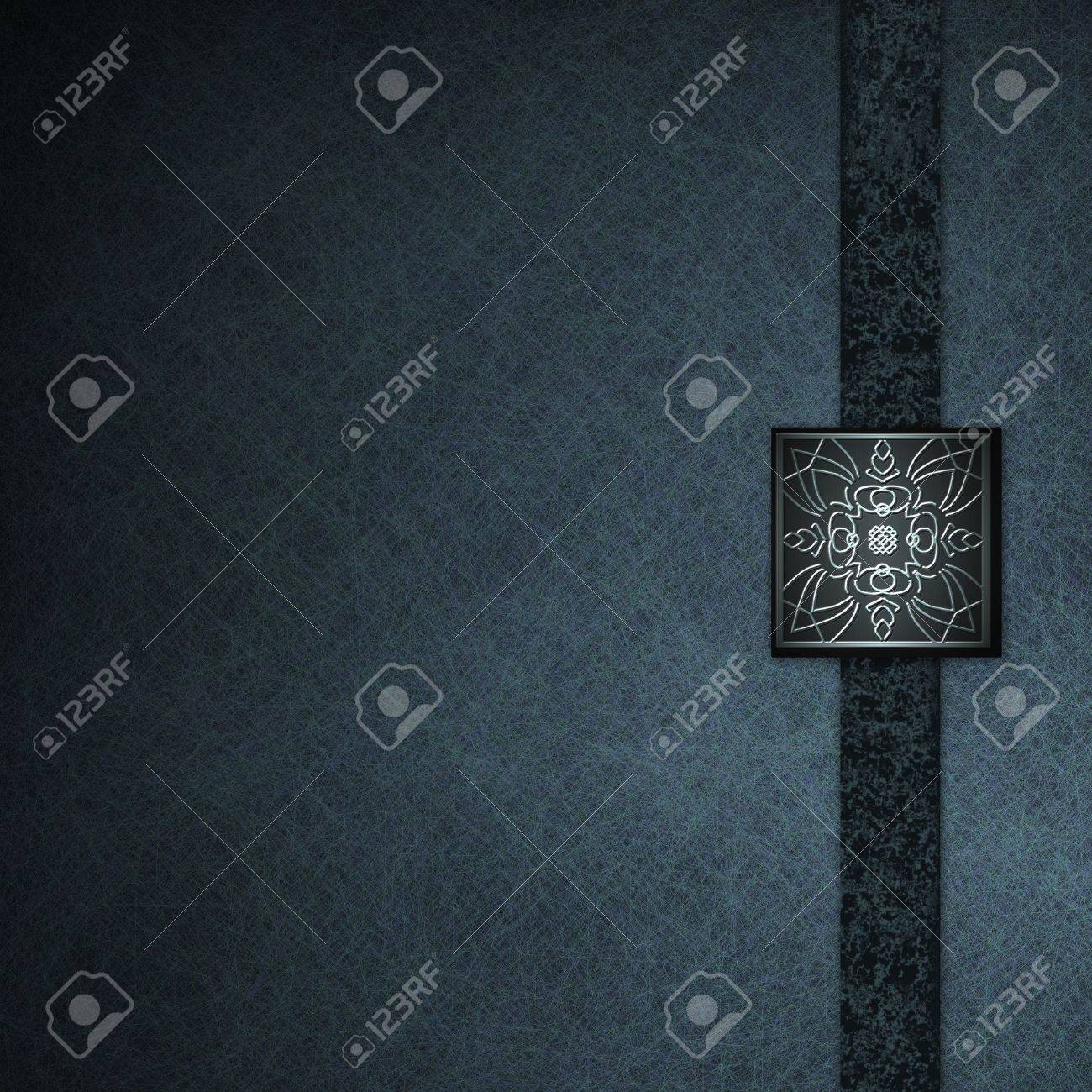 Black and blue parchment background paper with elegant seal design Stock Photo - 10750725