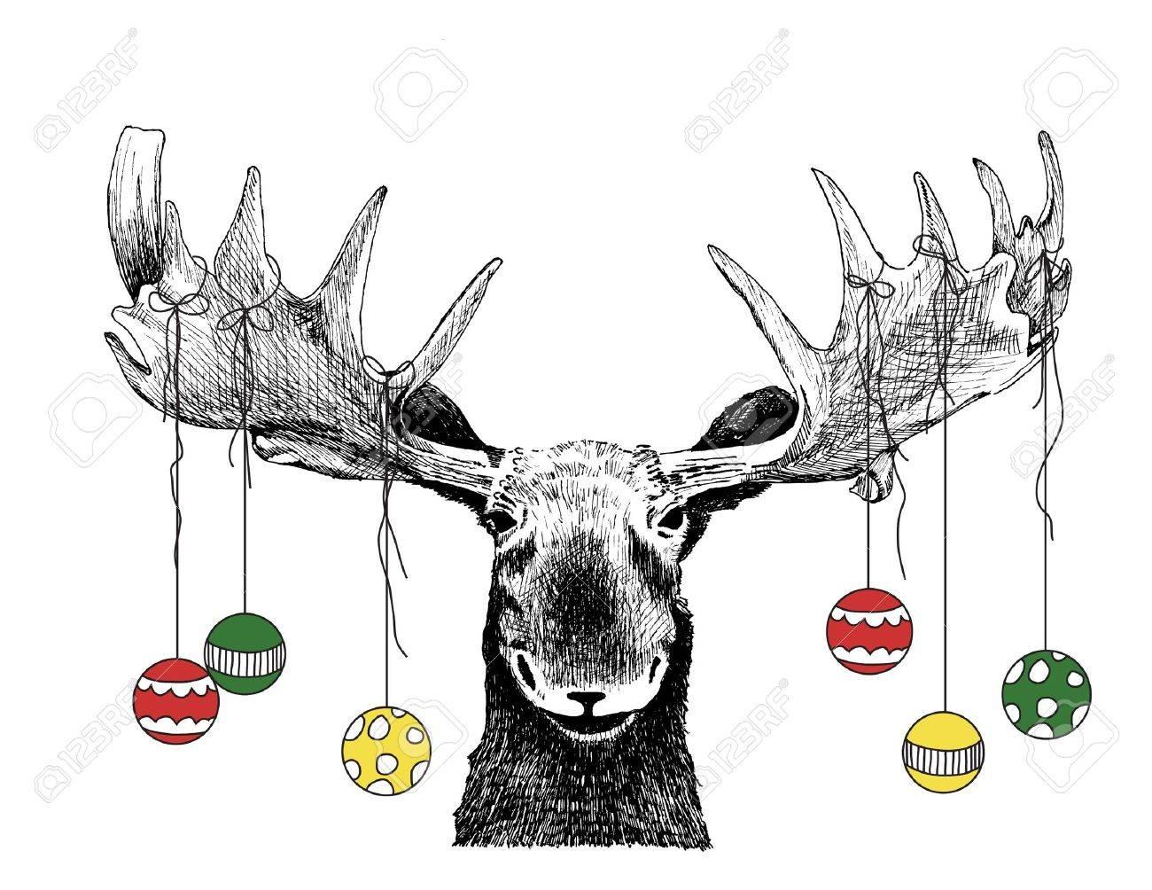 Elch Lustige Weihnachten Elch