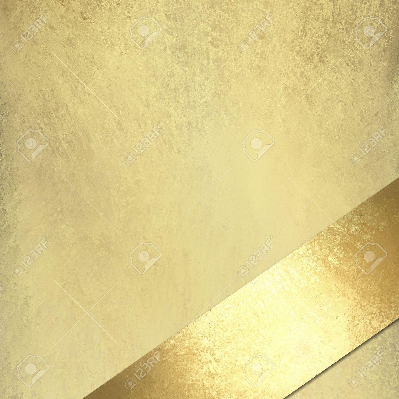 Licht Gold Hintergrund Mit Vintage-Grunge-Textur Mit Goldenen ...