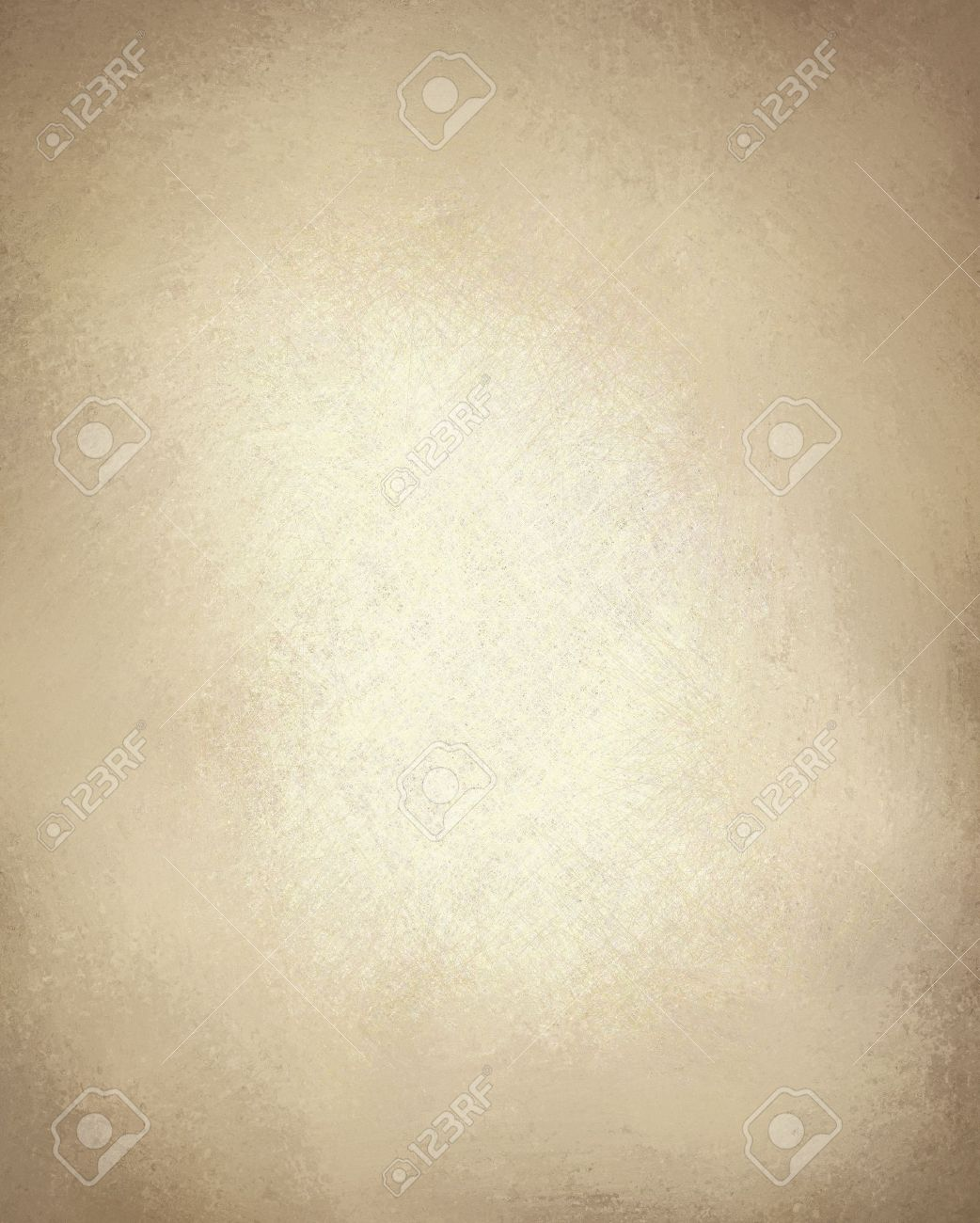 beige or light brown paper background with vintage grunge texture and highlight and old parchment look with copy space Stock Photo - 11588845