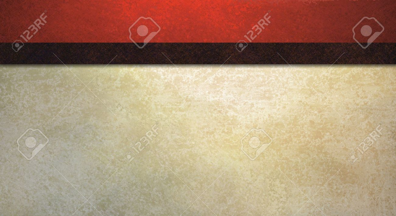 formal background with vintage red sponge texture and old white wall illustration with dark contrast black ribbon stripe has copy space for web template or elegant party invitation Stock Illustration - 12252758